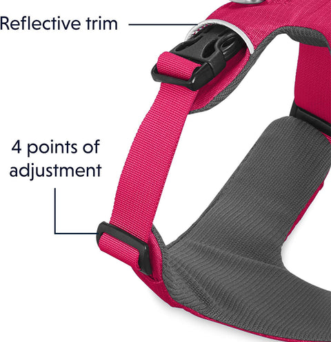 Ruffwear Front Range All-Day Adventure Harness For Dogs – Wild Berry Pink