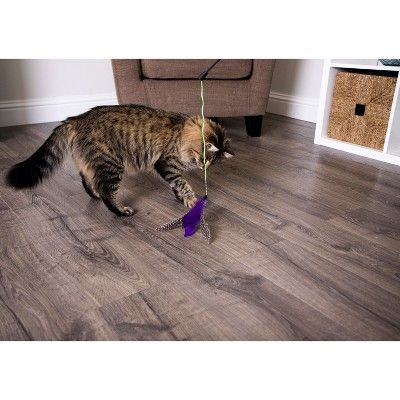 SmartyKat Frisky Flyer- Feather Wand Toy For Cats