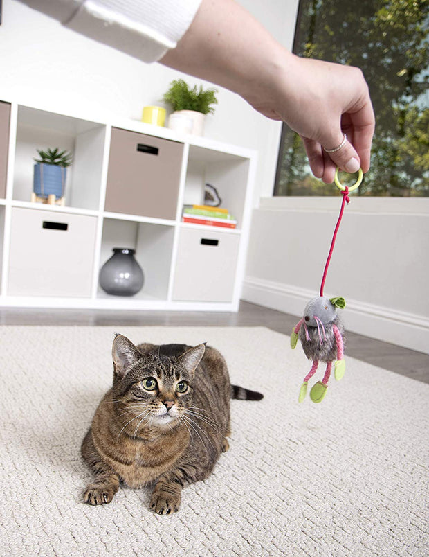 SmartyKat Bouncy Mouse- Bungee Cat Toy