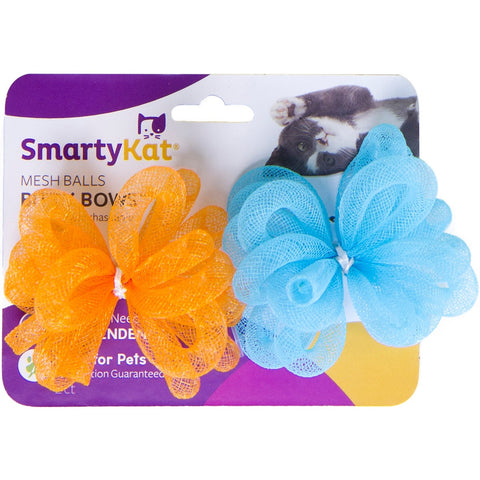 SmartyKat Bitty Bows (Pack Of 2)- Mesh Balls