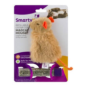 SmartyKat Madcap Mouse- Refillable Catnip Toy