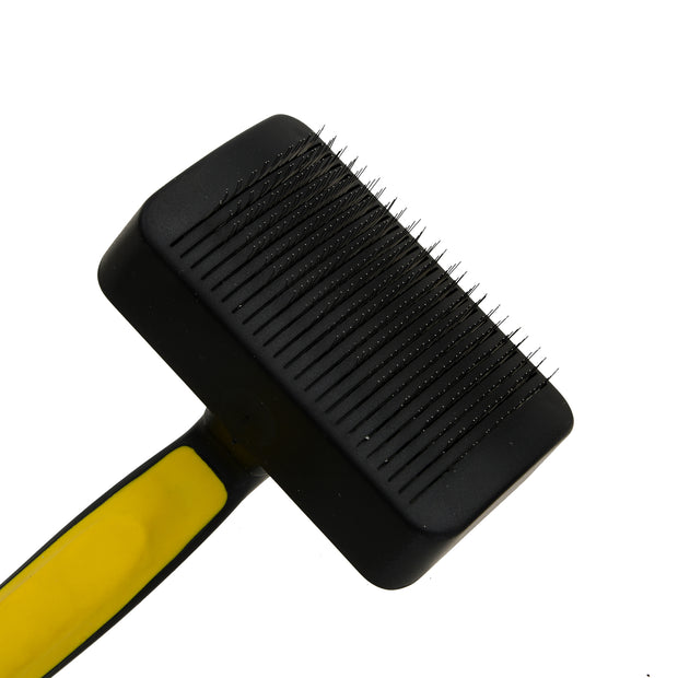 Smarty Pet Self Cleaning Hair Fall Control Slicker Brush For Pets – Yellow