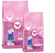 VanCat White Bentonite Clumping Cat Litter (Baby Powder Perfumed)