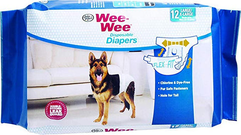 Wee-Wee Disposable Diapers For Dogs (Large / X-Large)