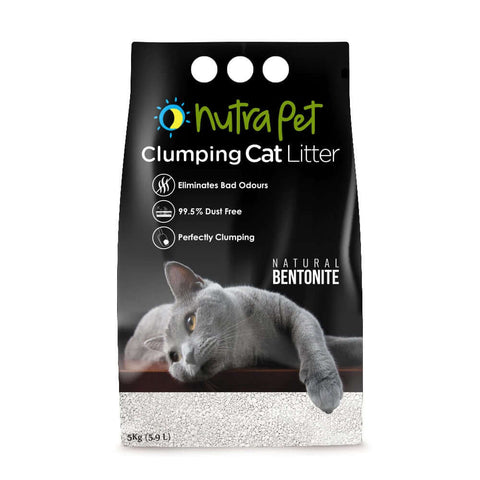 Nutrapet Natural White Bentonite Clumping Cat Litter-5kg