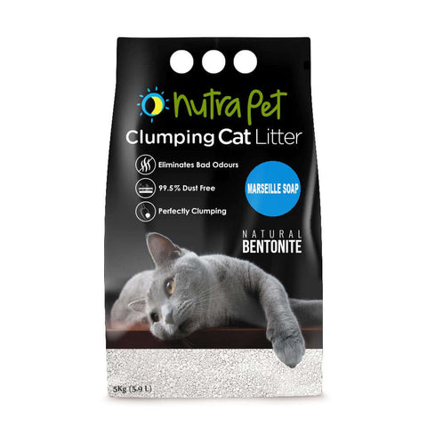 Nutrapet Marseille Soap White Bentonite Clumping Cat Litter-5kg