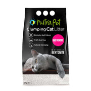 Nutrapet Baby Powder White Bentonite Clumping Cat Litter-5kg