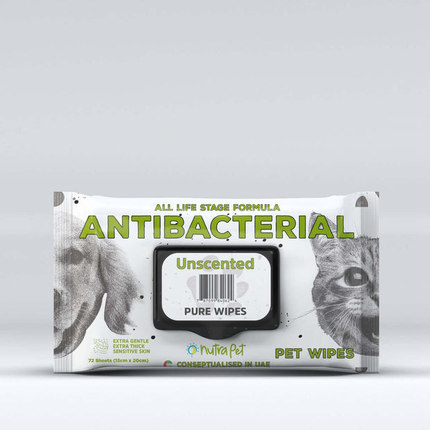 Nutrapet Unscented Pet Wipes-72 Wipes