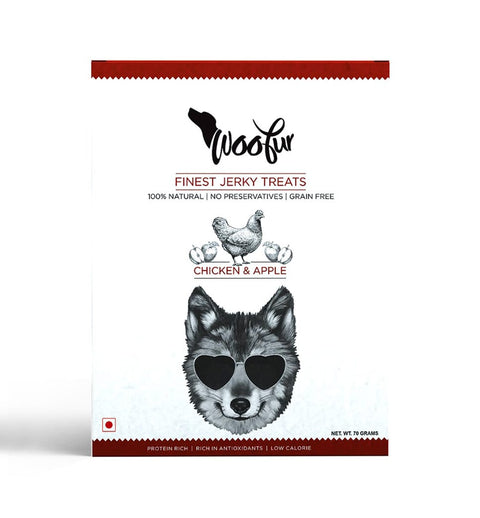 Woofur Chicken & Apple Jerky