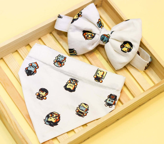Dragon Ball Z Bow And Bandana For Dogs