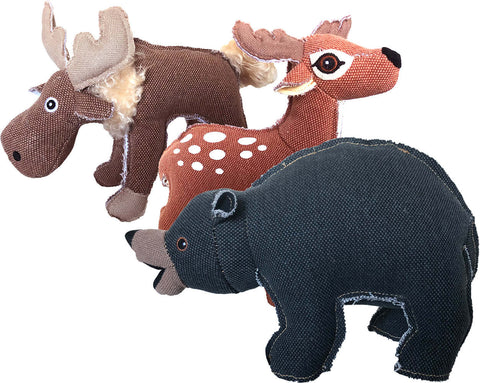 Petsport Tuff Plush Forest Friends Dog Toy, Assorted