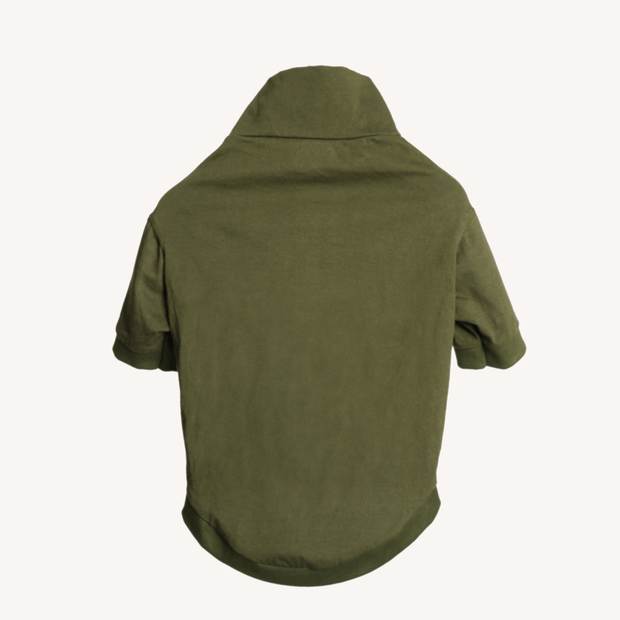 Olive Green Turtle Neck T-Shirt For Dogs