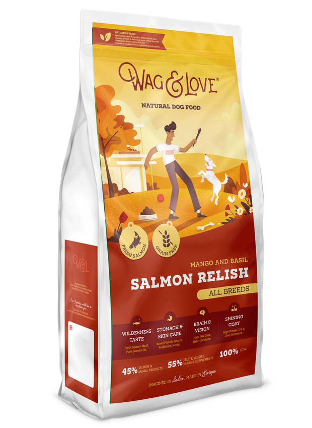 Wag & Love Natural Dog Food- Salmon Relish (All Breeds)