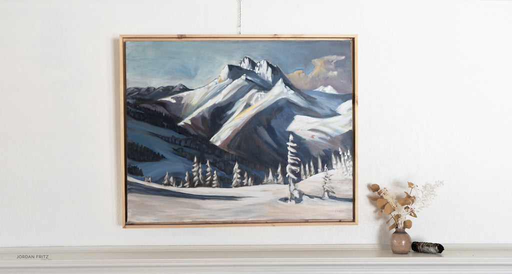 Triple Peak | 24 x 30 | Framed Original Acrylic Painting