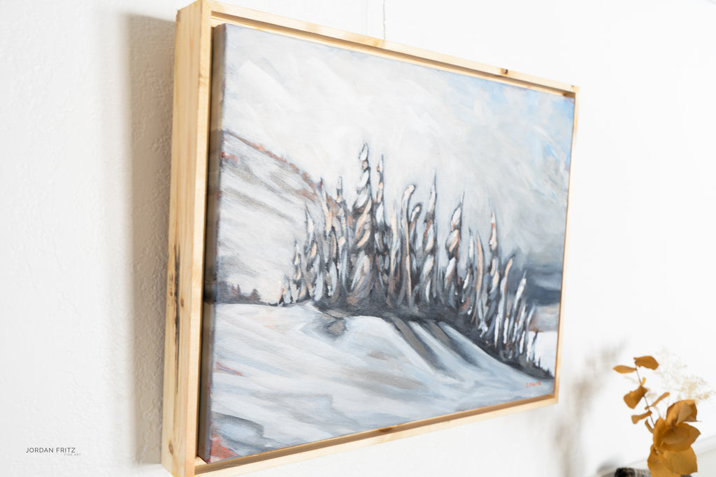 Snow Dance | 16 x 20 | Framed Original Acrylic Painting