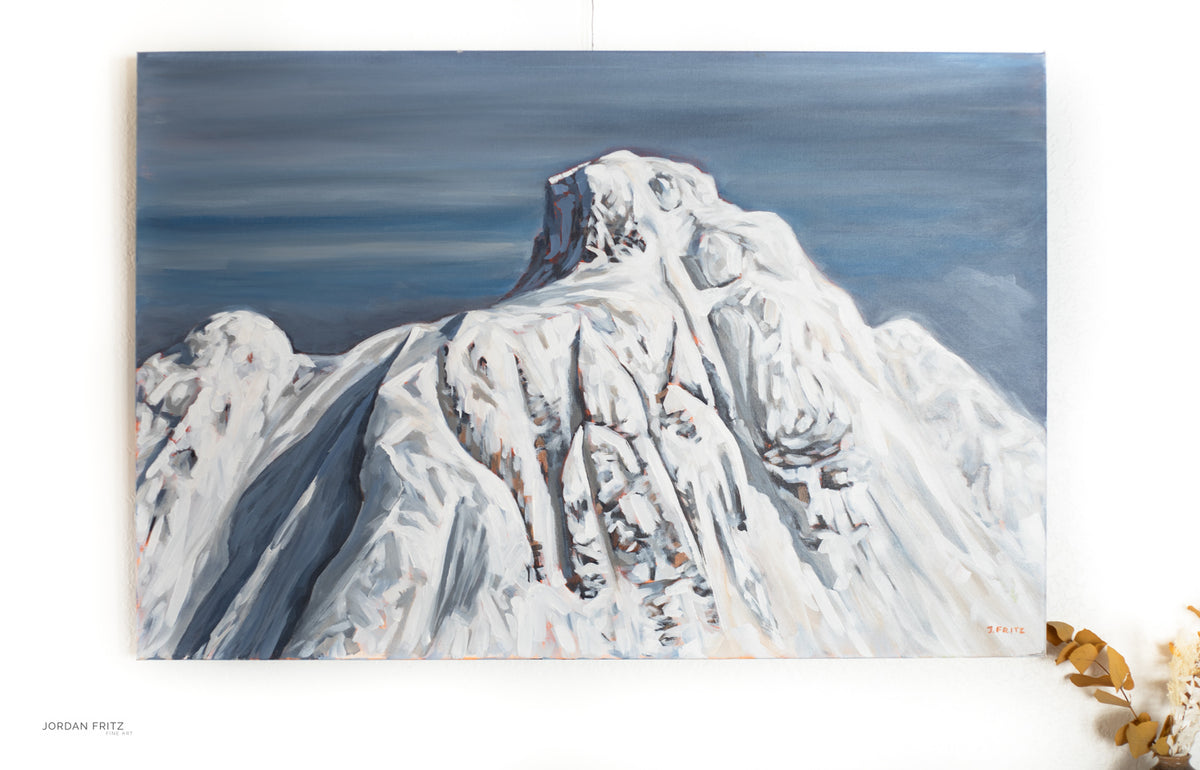 Mount Cain Rising  | 24 x 36 | Original Acrylic Painting