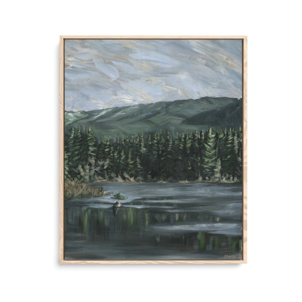 Original Acrylic Painting West Coast Impressionism Jordan Fritz Fine Art Old Growth