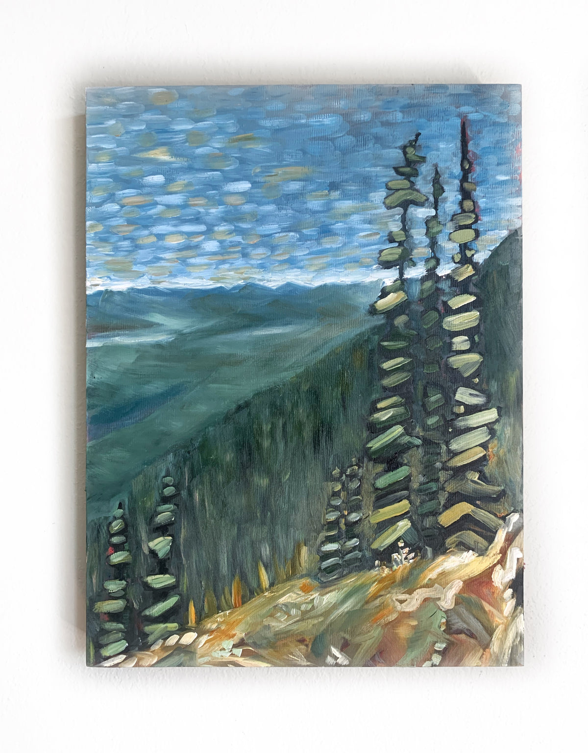 Arrowsmith Scramble | 12 x 19 |  Original Oil Painting