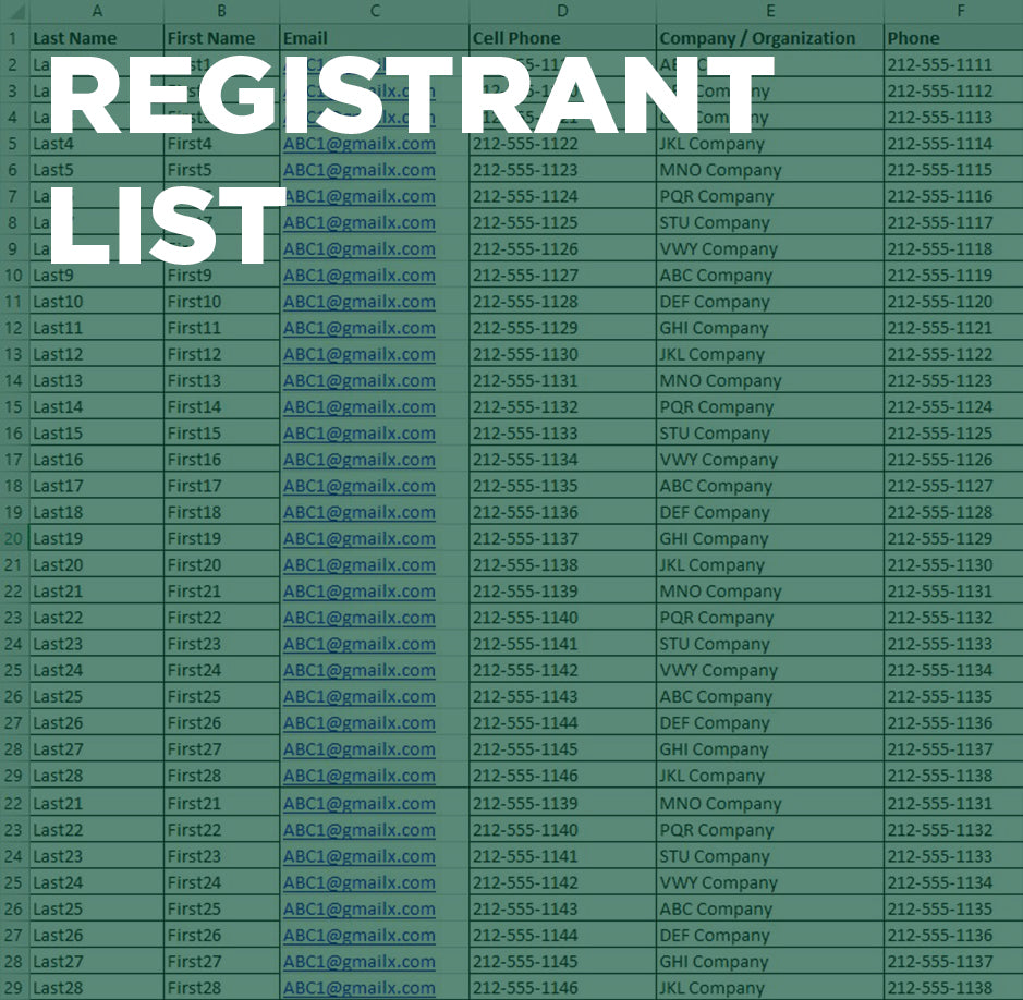 San Diego Registrant List