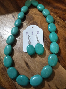 Necklace Turquoise look Stone (Howlite)