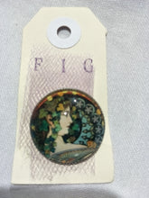 Art Glass Brooch - 20mm diameter.  Beautiful brooch of famous artworks