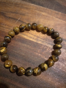 Bracelet - unisex,  mens Tiger Eye stone.