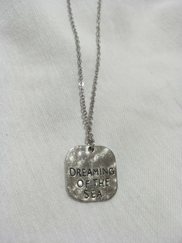 Dreaming of the Sea tag necklace