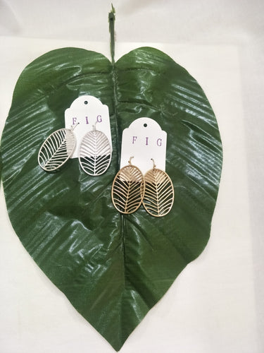 Tropical Cut Out Leaf Earrings