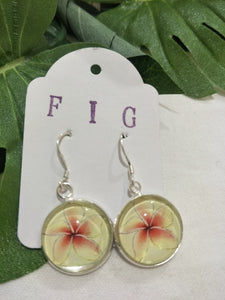 Art Glass Earrings - Tropical