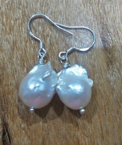 Earrings - Baroque Pearls Drops Gold Look or Sterling Silver Hooks