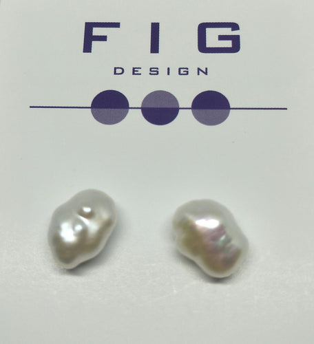 Baroque Pearl Studs Freshwater Pearls