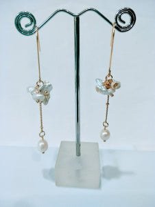 Keishi Freshwater Pearl Hook Earrings