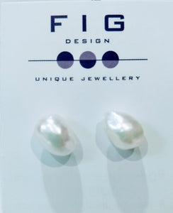 Baroque Keishi Freshwater Pearl Stud Earrings