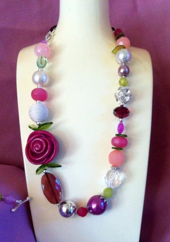 Necklace - Country Garden Eclectic adjustable length