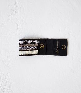 Cloth & Co / Tribal Cuff / Zig Zag / Black / Small