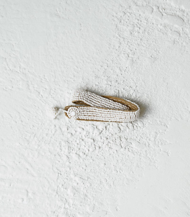 Sidai / Leather Wrap / White