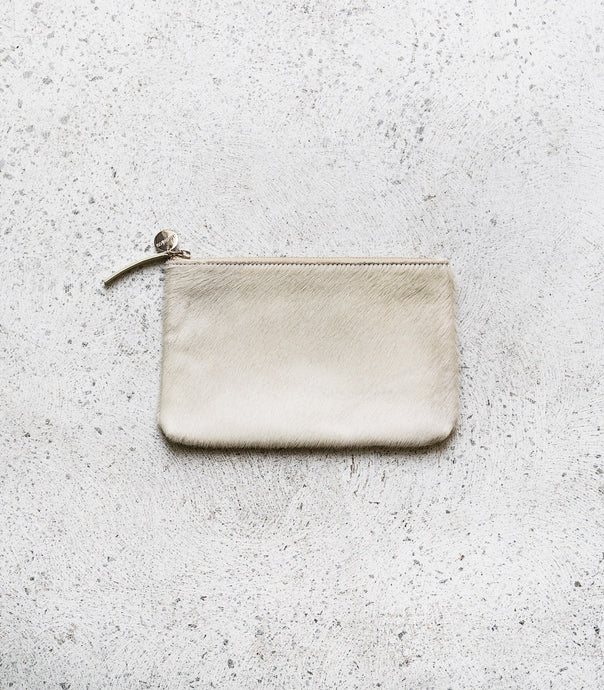 Cloth & Co / Leather Pouch / Fur White