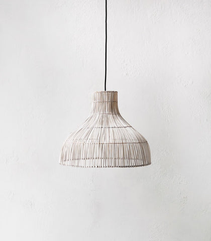 Palm Whitewashed Lampshade