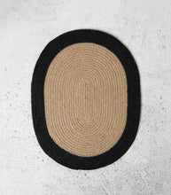 Oval Placemat w Black Edge