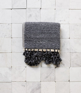 Ottoloom / Milan Bath Mat / Black & White Stripe