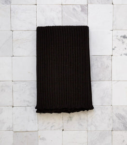 Cloth & Co / Organic Cotton Bath Mat / Black