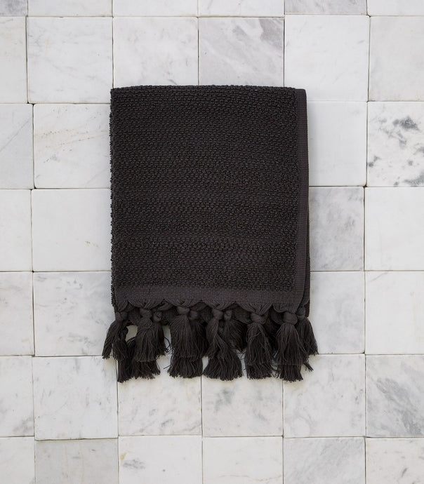 Cloth & Co / Organic Cotton Hand Towel / Charcoal