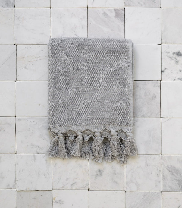 Cloth & Co / Organic Cotton Hand Towel / Dove Grey