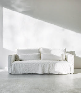 Vittoria Square Slipcover / Sofa / Milk