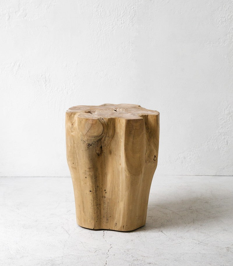 Crusoe Teak Root Round Side Table 45cm