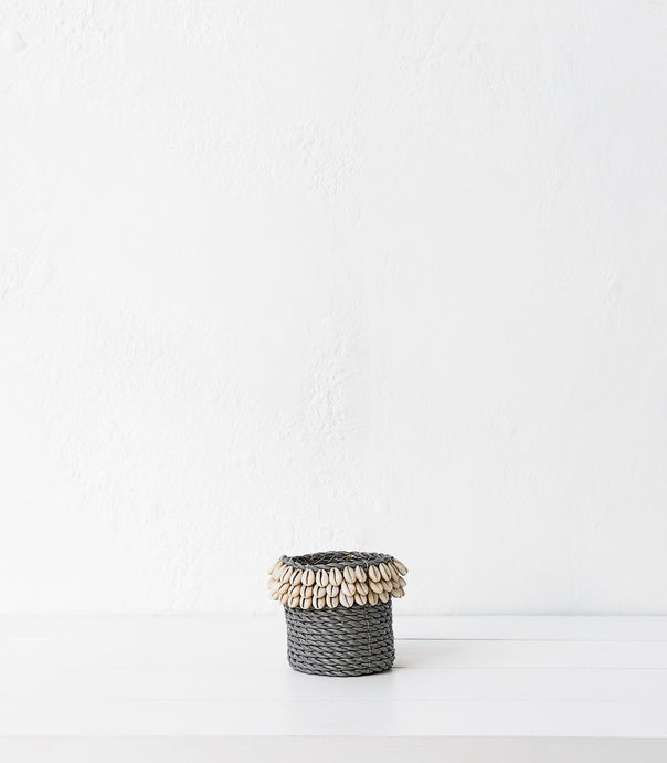 Shell-Jute Basket / Small / 10cm / Grey