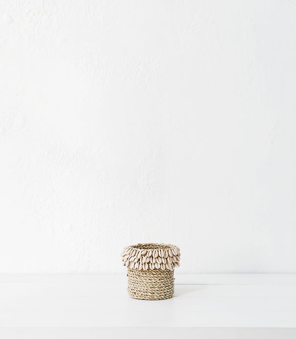 Shell-Jute Basket / Small / 10cm / Natural