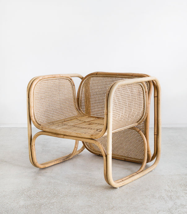 Woven Rattan & Bamboo Lounging Chair