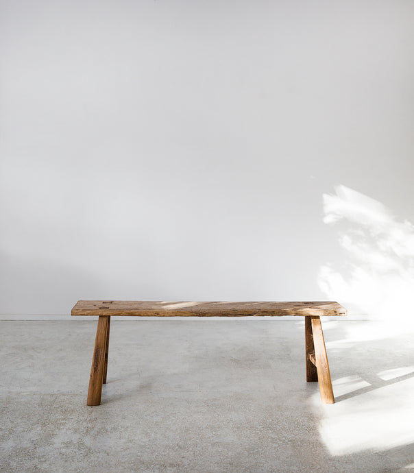 'Craft District' Vintage Wooden Bench / #67