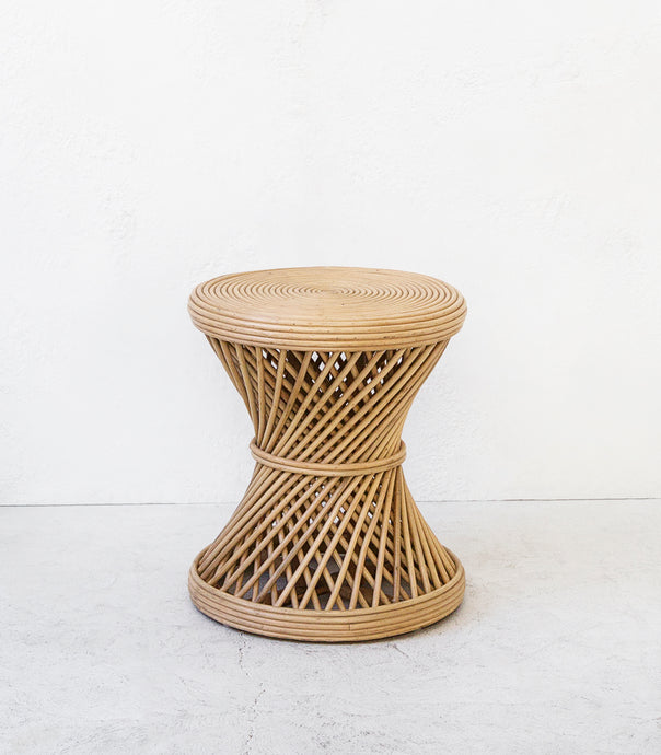 Rattan Side Table-Stool / Natural
